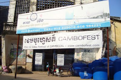CamboFest cambodia film festival restores the old Royal cinema hall in Kampot for their international film festival