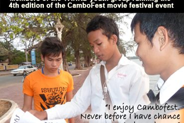 CamboFest youth group gain skills training while operating CamboFest, Cambodia's first international film festival